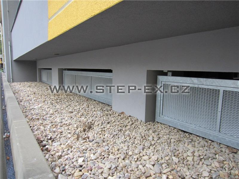 Ocelová konstrukce podhledů - Hotel STEP