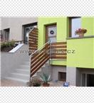 Zábradlí vstupního schodiště ocel + dřevo - p. Starý