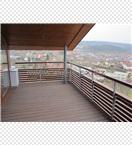 Zábradlí balkonu ocel + dřevo - p. Kalontchev