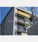 Kombinované zábradlí ocel + žluté sklo - KOTI Motol