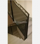 Zábradlí schodiště - děrovaný plech - BD Jarov