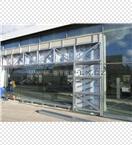 Ocelová konstrukce - vstup do autosalonu