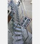 Ocelové schodiště LUXURY, nášlapy z tahokovu - p. Mittner