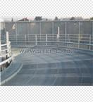 Ocelové zábradlí rampy - Autosalon Audi v Kunraticích