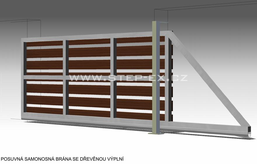Brána posuvná